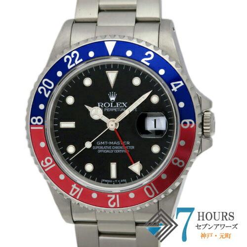 【99650】ROLEX ロレックス 16700 GMTマスター S番 青赤ベゼル ブラック /トリチウムダイヤル SS 自動巻き 純正ボックス 保証書
