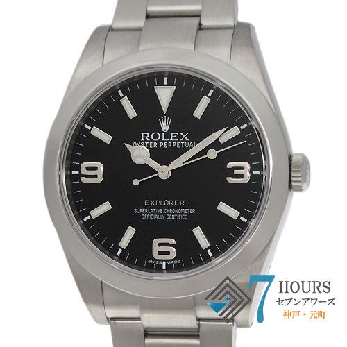 【99860】ROLEX ロレックス 214270 エクスプローラー G番 SS ブラックダイヤル ブラックアウト 自動巻き ギャランティーカード