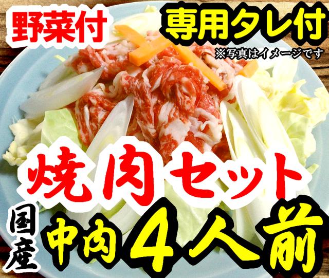 【F-4】さくら焼肉(スライス)&野菜セット詰め合わせ4人前 野菜付 専用たれ付 馬肉 桜肉