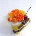 バレンタインデー プリザーブドフラワーギフト フレッシュオレンジ