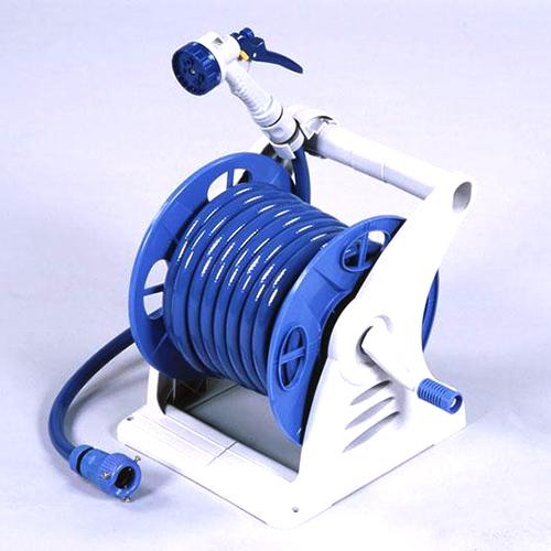 【花育通販】ガーデニング(家庭園芸)用散水ホースリール「プラスチックホースリール・ジュニアス20」を販売