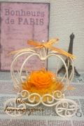 【限定品】結婚式のフラワー電報に!かぼちゃの馬車アレンジ