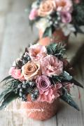 結婚式のフラワー電報に!フレンチシャビー ピンク