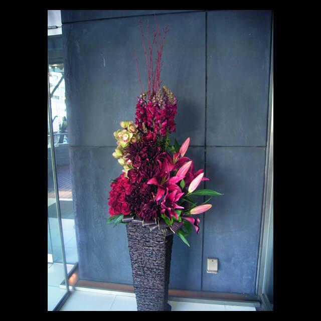 【配達回収無料】籠スタンド花 | バラ・ダリア・アマリリス・シンビジューム・スナップ 他