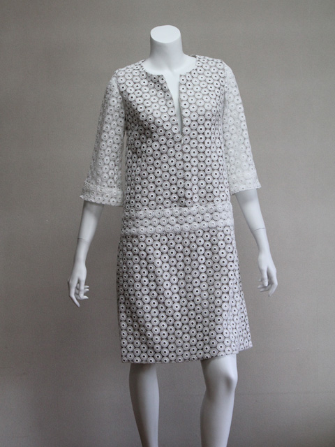 Style NO. gal-044 7分袖ホワイトレースワンピース