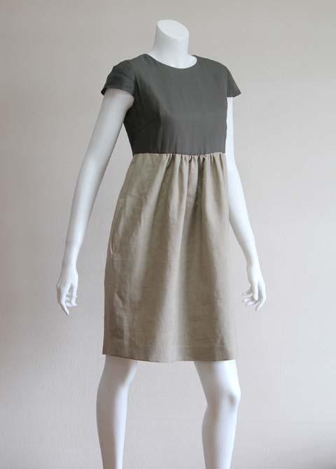 Style NO. gal-045  シルク重ねフレンチスリーブワンピース