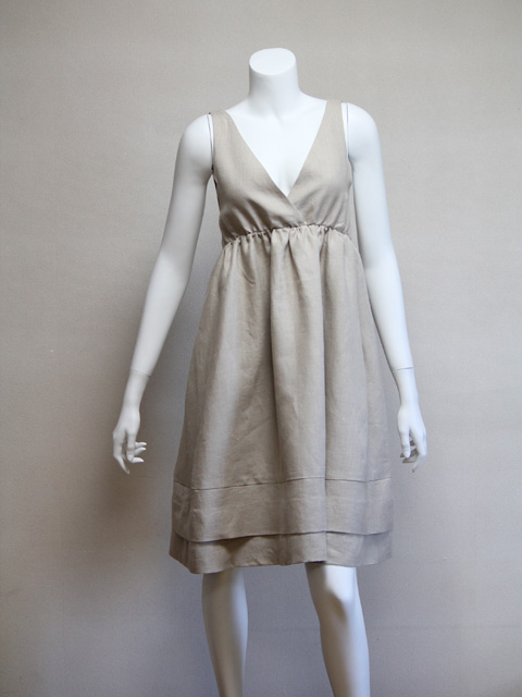 Style NO. gal-046 ノースリーブAラインフレアワンピース(すそ2重)