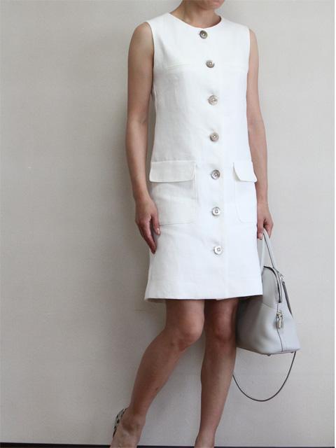 Style No.gal-060 リネンホワイトワンピース