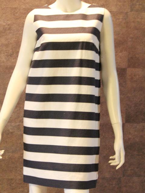 Style No gal-085 ノースリーブビッグボーダーワンピース