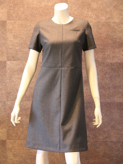 Style No gal-097 半袖グレーフレアワンピース