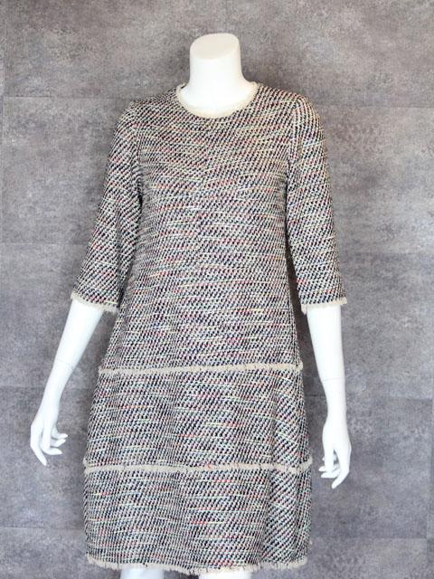Style No gal-103-b 7分袖シルクツイード3段スカートワンピース(5周年企画)