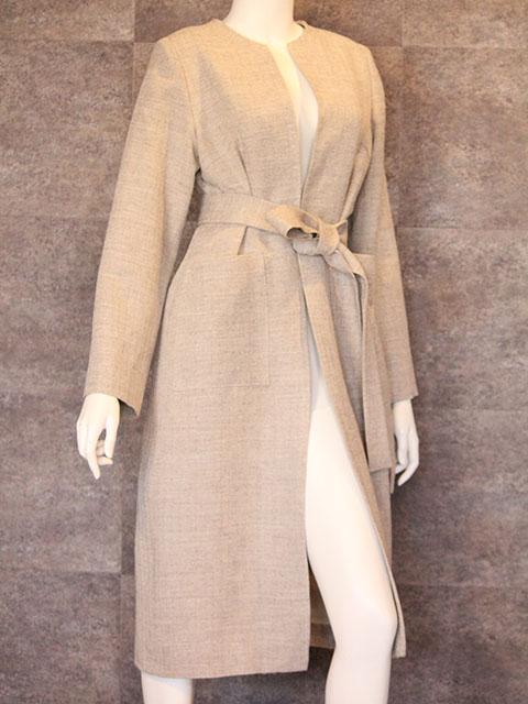 Style NO. gal-142 ヘリンボーンリネンウールコート