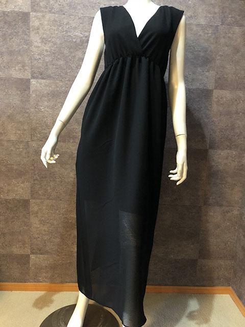 Style No gal-157 大人のブラックロングサマードレス