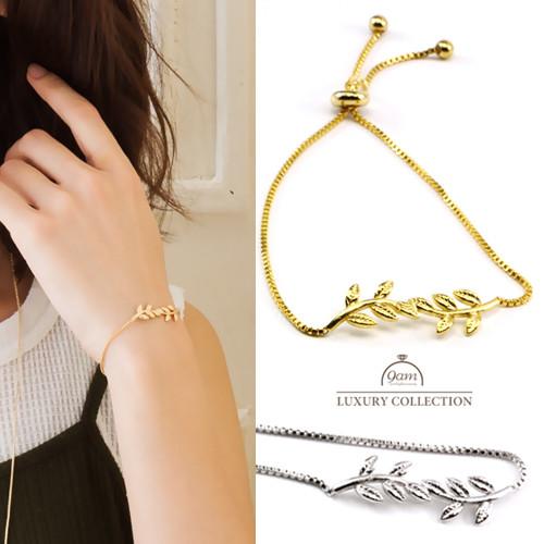 classy leaf bracelet