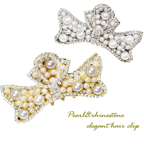 ribbon pearl clip