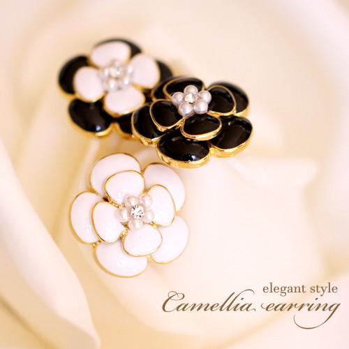 camellia earrings