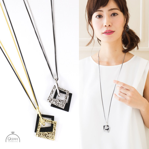 square long necklace