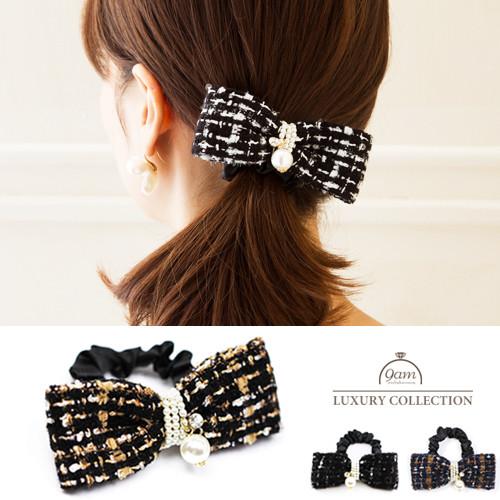 tweed ribbon hairaccessory