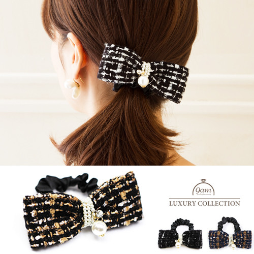 tweed ribbon hairaccessory