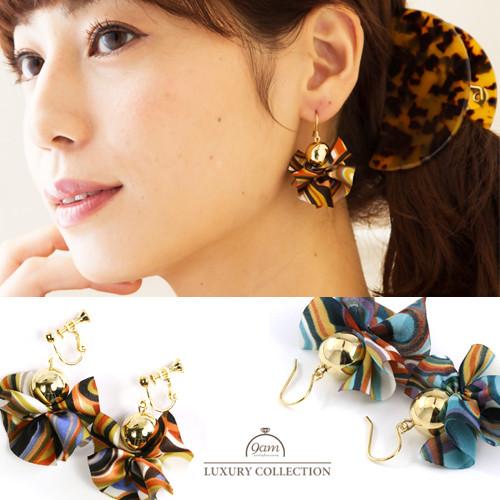 chiffon earrings