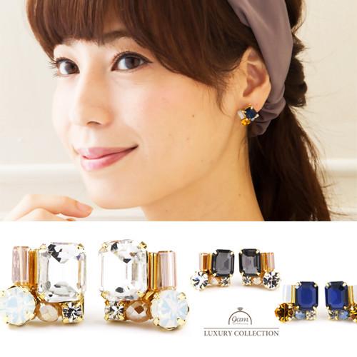 bijou color earrings