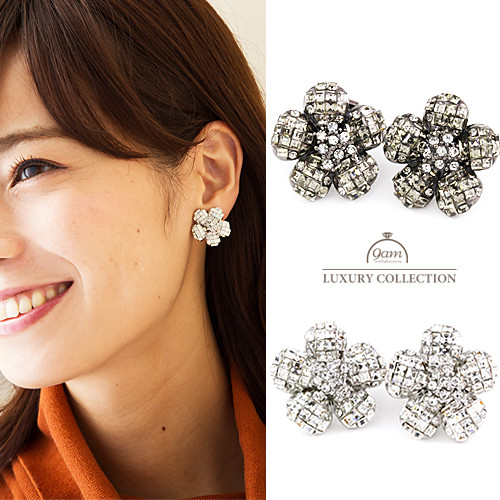 daisy swarovski earrings