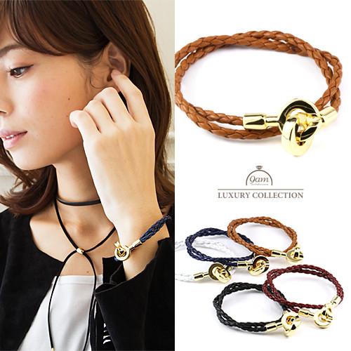 leather close bracelet
