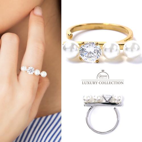 リング パール キュービックジルコニア 指輪 ニッケルフリー 大人可愛い シンプル レディース ジュエリー デイリー 結婚式 パーティー プレゼント ギフト