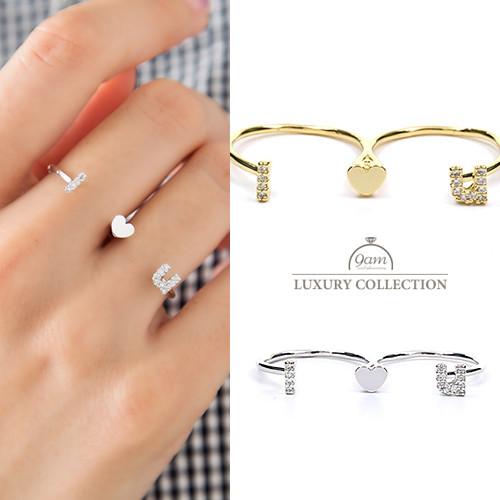 リング ハート キュービックジルコニア 指輪 ニッケルフリー 大人可愛い シンプル レディース ジュエリー デイリー 結婚式 パーティー プレゼント ギフト レディース ジュエリー
