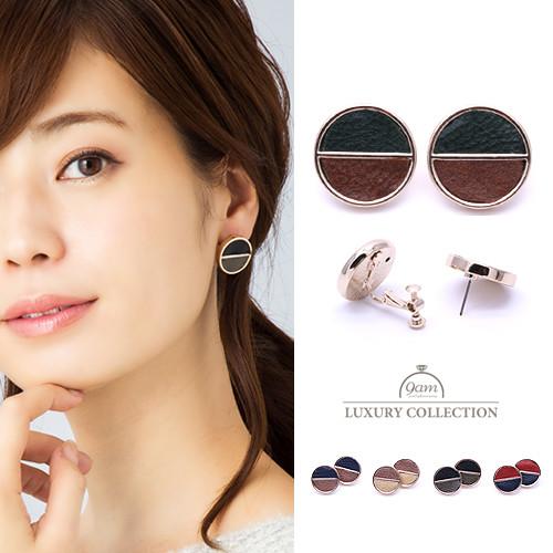 leather circle pierce
