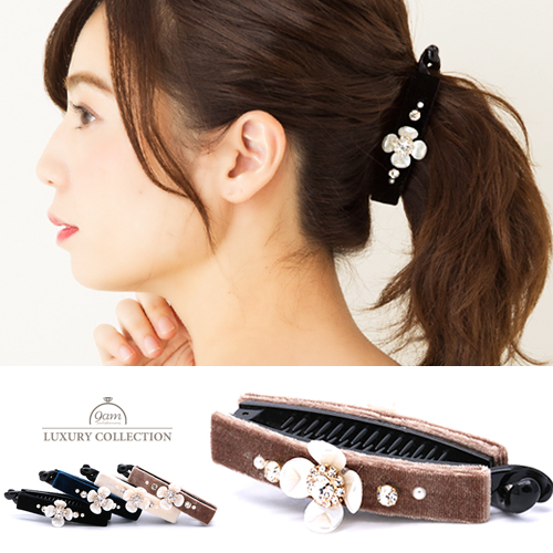 velvet flower clip