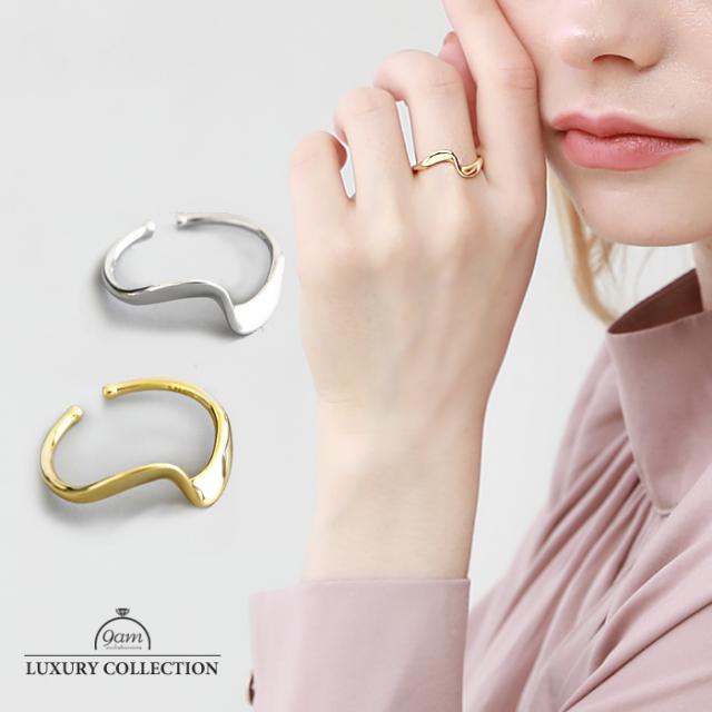 リング 上品 SILVER925 指輪 18Kゴールド ニッケルフリー