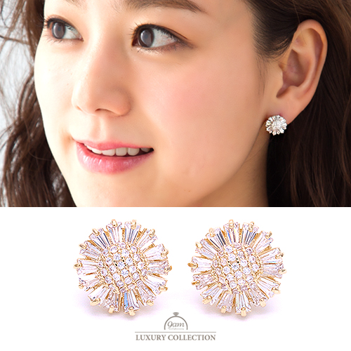 jewel flower earring
