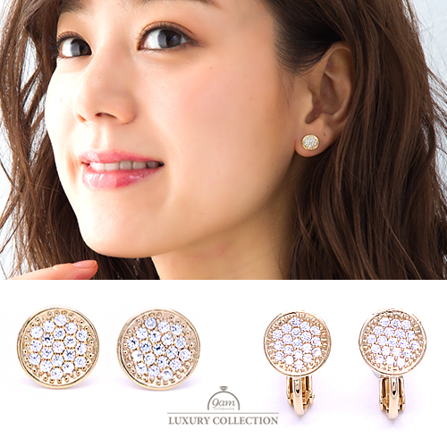 jewel circle earring