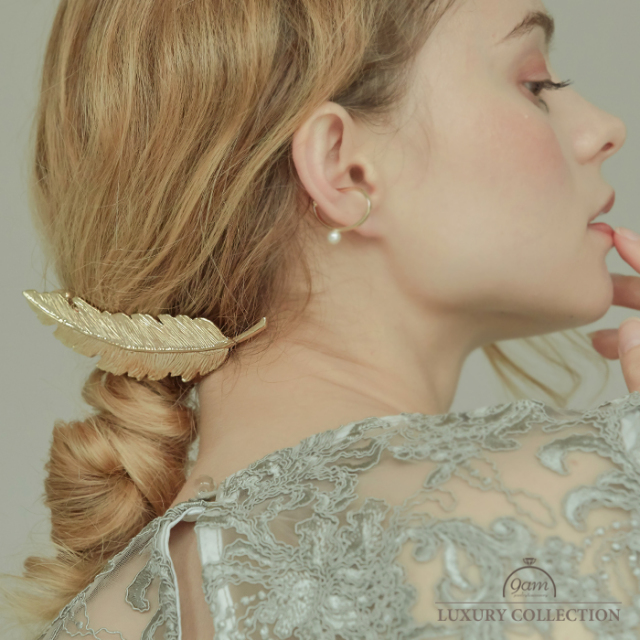 feather hairclip
