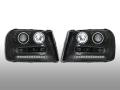 ヘッドライトASSY・リング付インナーブラックSET 02-09yトレイルブレイザー