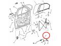 ワイヤリングハーネスASSY・フロントドアRH(ルーフ左右エアバック無・プレミアムスピーカーシステム付)/GM純正アウトレット