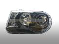 ヘッドライトASSY・クリスタルプロジェクターLEDリング付インナーブラックSET 300C