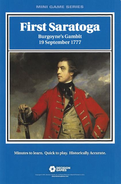『First Saratoga Burgoyne's Gambit, 19 September 1777』【ルール日本語訳付】