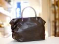【超軽量チェーンバッグ】ランチバッグ クロコダイル型押し チョコレートブラウン色 GirierMore