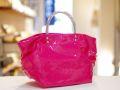 【超軽量チェーンバッグ】ランチバッグ エナメルピンク色 GirierMore