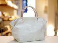 【超軽量チェーンバッグ】ランチバッグ クロコダイル柄 シルバーホワイト色 GirierMore