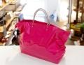 【超軽量チェーントートバッグ】 ミディアムサイズトート エナメルピンク色 日本製 Girier More