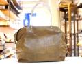 【超軽量チェーントートバッグ】 肩掛けトート クロコダイル柄型押し キャメル色 大サイズ 日本製 GirierMore