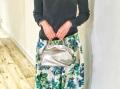 《新色》【超軽量チェーンバッグ】ランチバッグ メタリック プラチナシルバー色 GirierMore