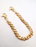 【1個までメール便可】Flat Link Wallt Chain-GOLD-