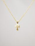 【メール便可】Cross Amulet Necklace-GOLD-