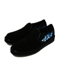 "Canvas Slip-on Boots""FLAMES""/キャンバススリッポンブーツ""フレイムス""-ALL BLACKxBLUE FLAMES-"