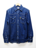 70's Western Denim Shirts-INDIGO-