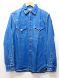 Western Denim Shirts-D,INDIGO-